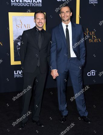 "Jason Landau, Cheyenne Jackson. Jason Landau, left, and Cheyenne Jackson arrive at the Los Angeles premiere of ""A Star Is Born"", at the Shrine Auditorium"
