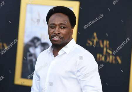 """Eddie Griffin arrives at the Los Angeles premiere of """"A Star Is Born"""", at the Shrine Auditorium"""