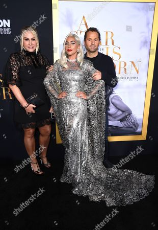 Stock Photo of Heather Parry, President of Production, Film and Television at Live Nation, Lady Gaga, Michael Rapino, Executive Producer