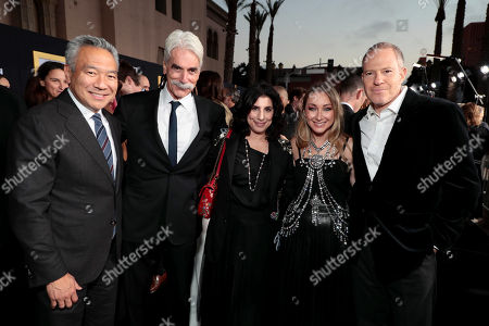 Kevin Tsujihara, Chairman and Chief Executive Officer of Warner Bros., Sam Elliott, Sue Kroll, Blair Rich, President, Worldwide Marketing, Warner Bros. Pictures Group and Warner Bros. Home Entertainment, Toby Emmerich, Chairman of Warner Bros. Pictures Group,