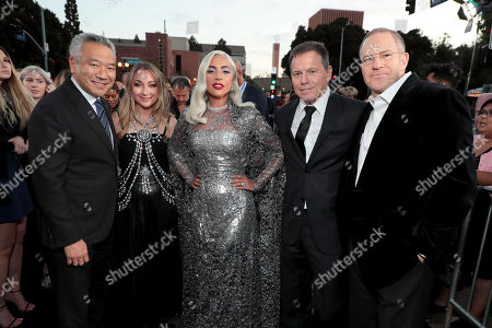 Kevin Tsujihara, Chairman and Chief Executive Officer of Warner Bros., Blair Rich, President, Worldwide Marketing, Warner Bros. Pictures Group and Warner Bros. Home Entertainment, Lady Gaga, Bill Gerber, Producer, Toby Emmerich, Chairman of Warner Bros. Pictures Group,