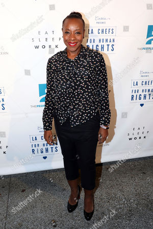 Marianne Jean-Baptiste arrives at Cassia's 3rd Annual LA Chefs for Human Rights, in Santa Monica, Calif