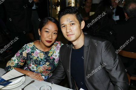 Harry Shum Jr., Shelby Rabara. Harry Shum Jr., right, and Shelby Rabara pose together at Cassia's 3rd Annual LA Chefs for Human Rights, in Santa Monica, Calif