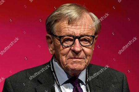 Baron Alfred Dubs, MP, delivers a speech at the Labour Party Conference in Liverpool, Britain, 25 September 2018. The annual Labour Party Conference which will run from 23 September until Wednesday 26 September.