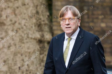 Guy Verhofstadt visit to Downing Street, London