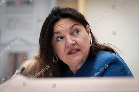 Belgium energy Minister Marie-Christine Marghem attends a hearing by Belgium parliament committee in Brussels, Belgium, 25 September 2018, after the announce of potential power shortage in November in Belgium, when six of the seven nuclear reactors will be out of service and a decision by the Minister to not build a strategic reserve for this winter. Belgium will have to call for international sources to feed the national network.