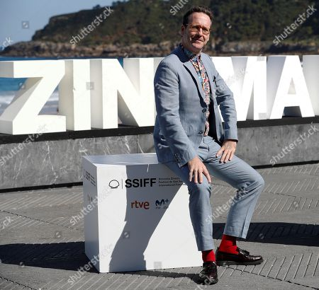 Spanish actor and cast member Joaquin Reyes poses for the photographers during the presentation of the film 'Tiempo después' (lit: Time After) at the 66th edition of San Sebastian international Film Festival (SSIFF), in San Sebastian, Basque Country, northern Spain, 25 September 2018. The SSIFF will be held from 21 to 29 September 2018.