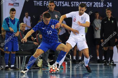 Editorial picture of England vs Croatia, International Futsal Friendly, Football, St George's Park, Burton upon Trent, Derbyshire, United Kingdom - 24 Sep 2018