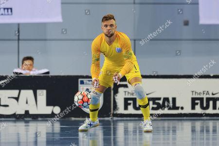 Mark Croft of England during England vs Croatia, International Futsal Friendly Football at St George's Park on 24th September 2018