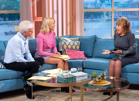 Phillip Schofield and Holly Willoughby with Eve Pollard