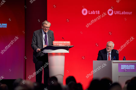 Alf Dubs and Jeremy Corbyn