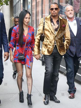 Terrence Howard and Mira Pak