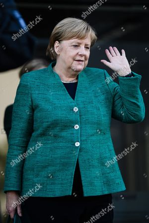 German Chancellor Angela Merkel leaves  after the election of Ralph Brinkhaus as the new parliamentary group leader at a joint meeting of the Christian Democratic Union (CDU) and Christian Social Union (CSU) parties' faction, in Berlin, Germany, 25 September 2018. Ralph Brinkhaus succeeds the faction's long-time former parliamentary group leader Volker Kauder.