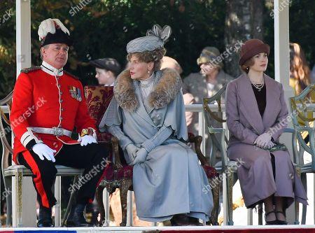 Hugh Bonneville and Geraldine James