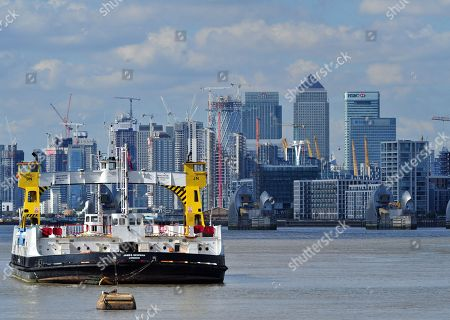 Woolwich ferry closure, London