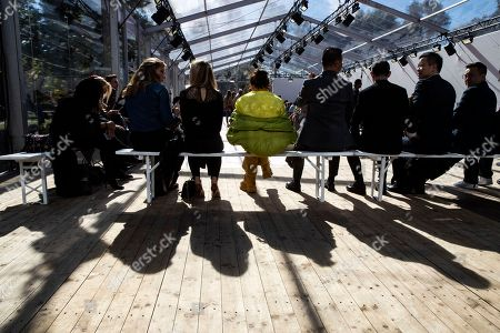 Guests gather for the Spring/Summer 2019 Ready to Wear collection by French designers Lea Sebban, Lou Menais and Jerry Journo for Jour/Ne during the Paris Fashion Week, in Paris, France, 25 September 2018. The presentation of the Women's collections runs from 25 September to 03 October.