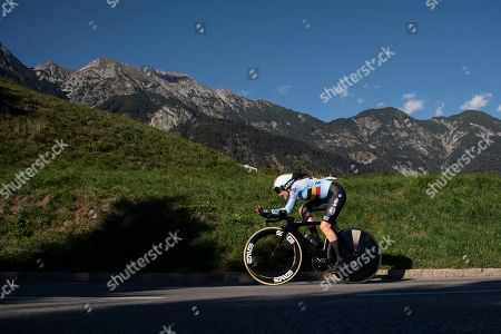 Stock Picture of Ann-Sophie Duyck of Belgium in action during the Women's Elite Individual Time Trial at the UCI Road Cycling World Championships in Rum, Austria, 25 September 2018.