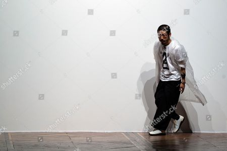 Stock Picture of Japanese designer Kunihiko Morinaga acknowledges the public after his Spring/Summer 2019 Women's collections show for Anrealage during the Paris Fashion Week, in Paris, France, 25 September 2018. The presentation of the Women's collections runs from 24 September to 02 October.