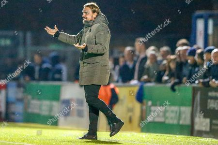Norwich City Manager Daniel Farke during the EFL Cup match between Wycombe Wanderers and Norwich City at Adams Park, High Wycombe