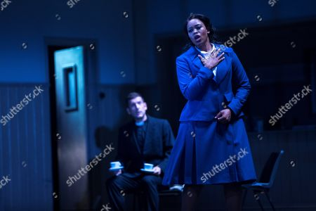Stock Picture of South African soprano Pretty Yende (R) performs during the rehearsal of the Italian opera 'I puritani' the opening opera at Gran Teatre del Liceu 2018/2019 season in Barcelona, Catalonia, Spain, 25 September 2018.