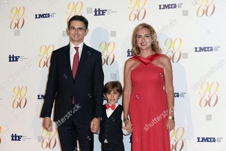 Federica Lucisano, husband Gabriele Nastasi and son Manfredi