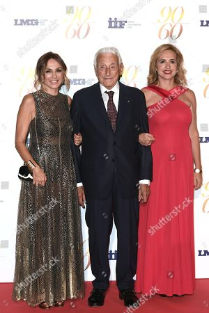 Stock Picture of Fulvio Lucisano and daughters Paola and Federica