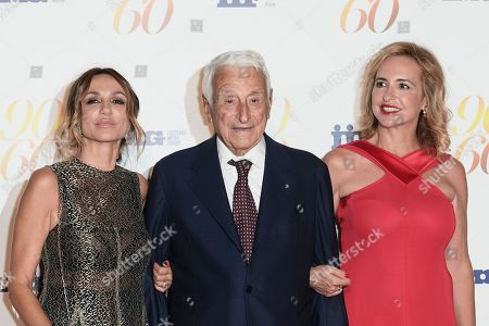 Fulvio Lucisano and daughters Paola and Federica