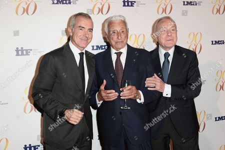 Fulvio Lucisano with Giampaolo Letta and Gianni Letta