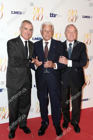 Stock Photo of Fulvio Lucisano with Giampaolo Letta and Gianni Letta