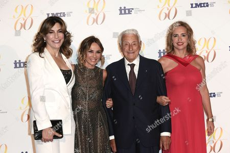 Jo Champa, Fulvio Lucisano with daughters Paola and Federica