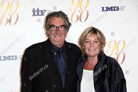 Director Neri Parenti with wife Vivian
