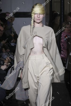 Stock Picture of Tamara Puchi on the catwalk