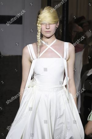 Stock Photo of Tamara Puchi on the catwalk