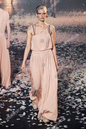 Stock Photo of Kristin Lilja Siguroardottir on the catwalk