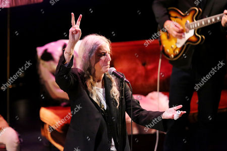 Patti Smith in concert at Audible Theater, New York