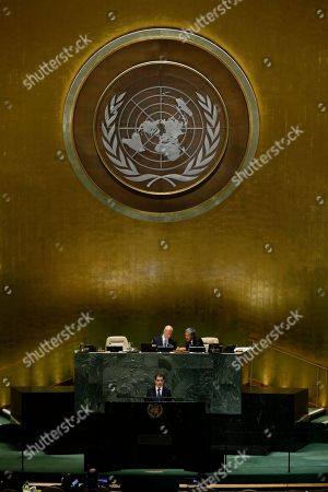 Morocco's Prime Minister Saad-Eddine El Othmani addresses the 73rd session of the United Nations General Assembly, at the United Nations headquarters