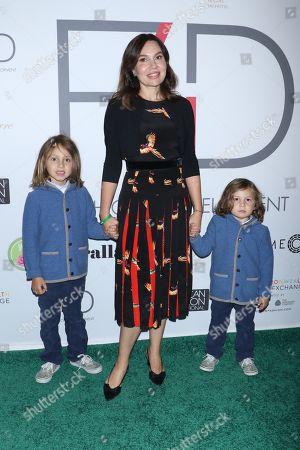 Fabiola Beracasa Beckman with her sons Julien and Felix