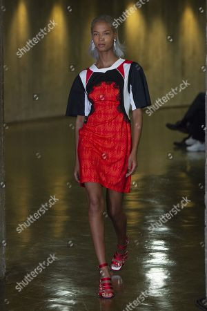 Stock Image of Ariela Soares on the catwalk