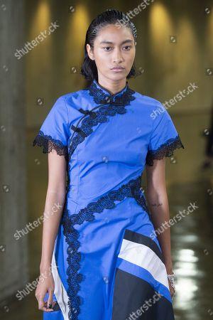 Editorial image of Koche show, Runway, Spring Summer 2019, Paris Fashion Week, France - 25 Sep 2018
