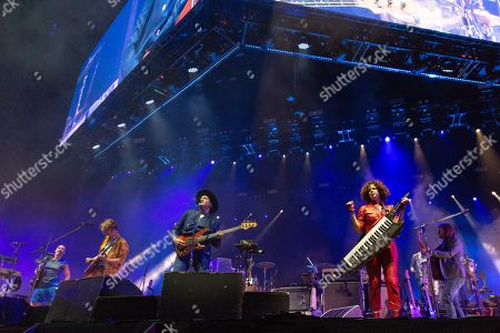 Arcade Fire - Sarah Neufeld, Richard Reed Parry, Win Butler, Regine Chassagne and Tim Kingsbury
