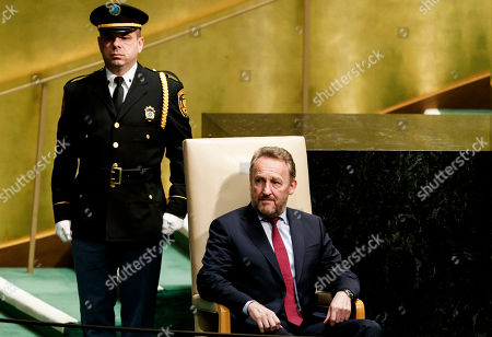 Bosnia and Herzegovina's Chairman of the Presidency Bakir Izetbegovic (R) arrives to address the General Debate of the 73rd session of the General Assembly of the United Nations at United Nations Headquarters in New York, New York, USA, 25 September 2018. The General Debate of the 73rd session begins on 25 September 2018.