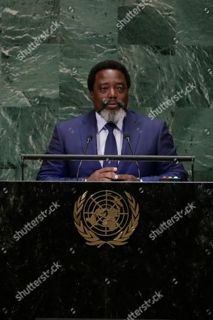 Stock Picture of President of the Democratic Republic of the Congo Joseph Kabila Kabange addresses the 73rd session of the United Nations General Assembly, at the United Nations headquarters