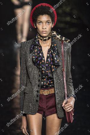 Editorial image of Saint Laurent show, Spring Summer 2019, Paris Fashion Week, France - 25 Sep 2018