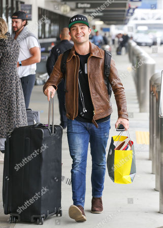 Ed Westwick at LAX International Airport, Los Angeles