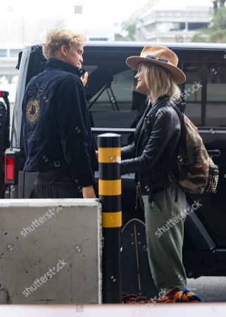 Cody Simpson and Clair Wuestenberg at LAX International Airport, Los Angeles
