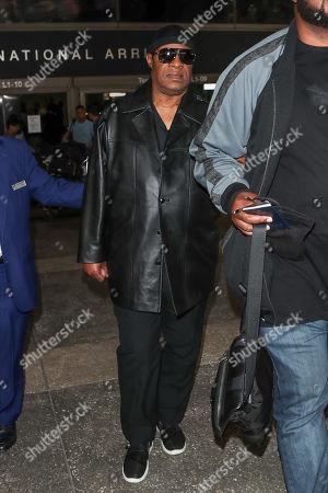 Stevie Wonder at LAX International Airport, Los Angeles