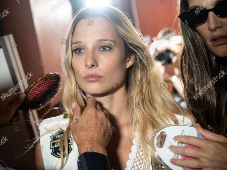 Editorial image of ETAM show, Backstage, Spring Summer 2019, Paris Fashion Week, France - 25 Sep 2018