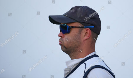 Jonathan Trott takes to the field