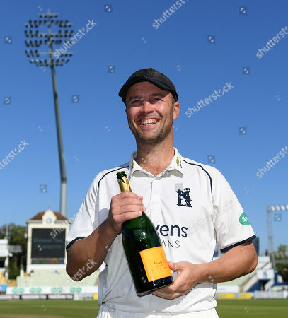 Jonathan Trott of Warwickshire looks on after victory