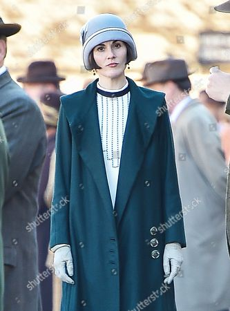 Downton Abbey The Movie on set filming, Lacock
